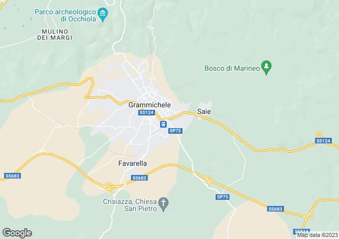 Map for Grammichele, Catania, Sicily
