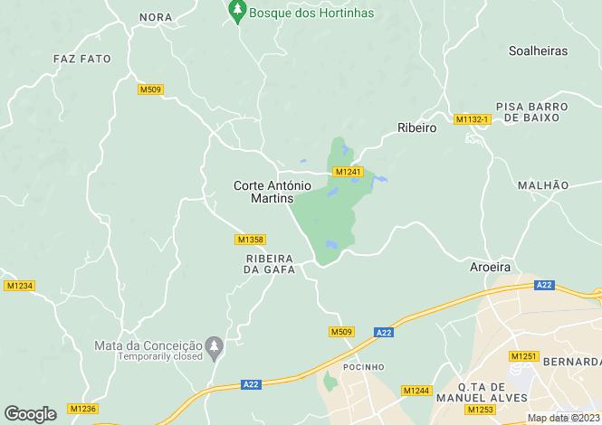 Map for East Algarve, Algarve, Portugal