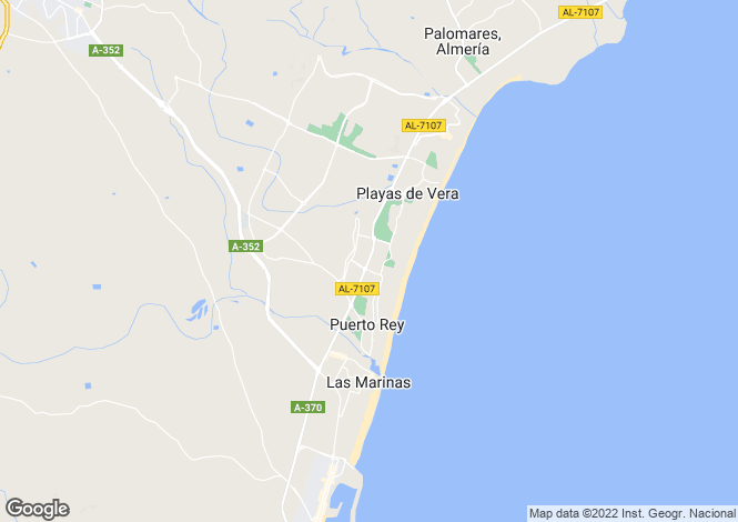 Map for Spain - Andalucia, Almería, Vera Playa