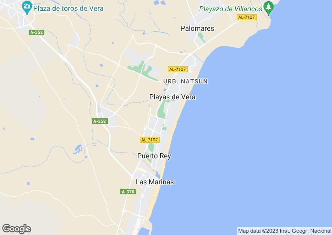 Map for Vera Playa, Almería, Andalusia
