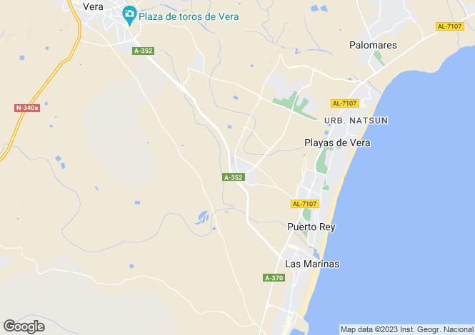 Map for Vera Playa, Spain