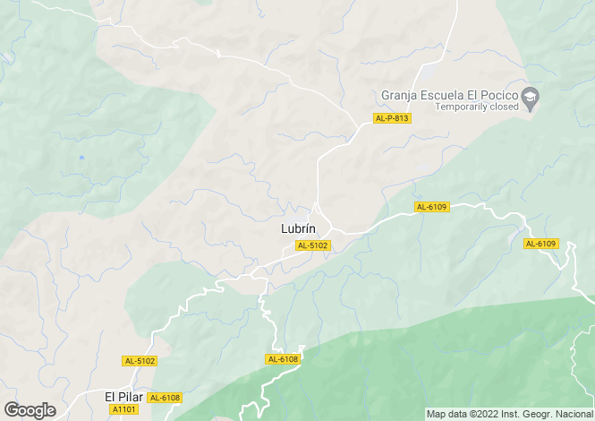 Map for Andalucia, Almería, Lubrín