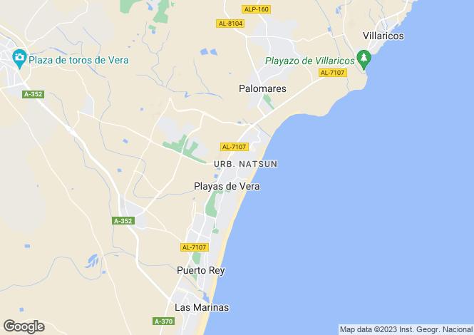 Map for Vera, Almería, Andalusia