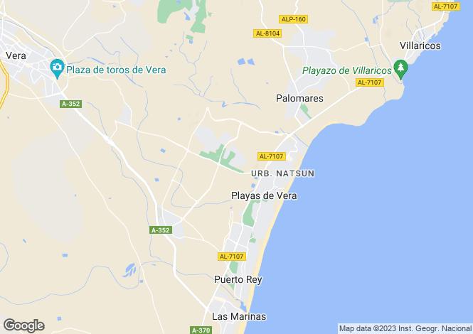 Map for Andalusia, Almería, Vera Playa