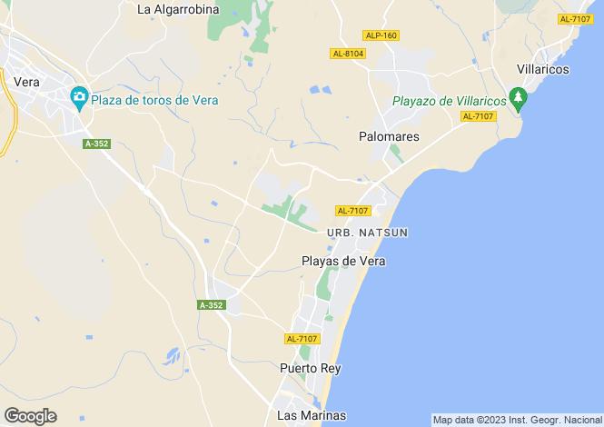 Map for Spain - Andalusia, Almería, Vera