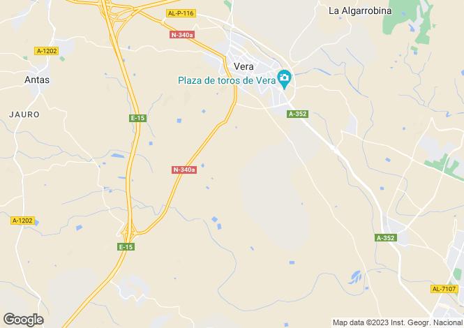 Map for Spain - Andalucia, Almería, Vera