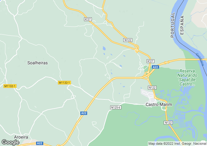 Map for Portugal,Algarve,Castro Marim