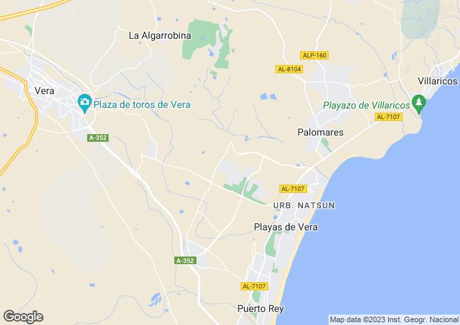 Map for Andalucia, Almería, Vera Playa