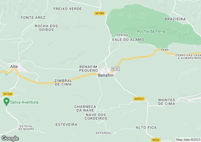 Map for Benafim Grande, Algarve