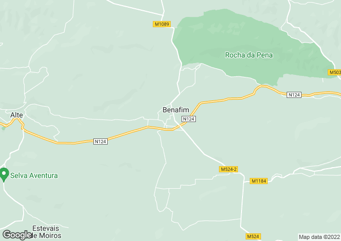 Map for Benafim Grande, Algarve