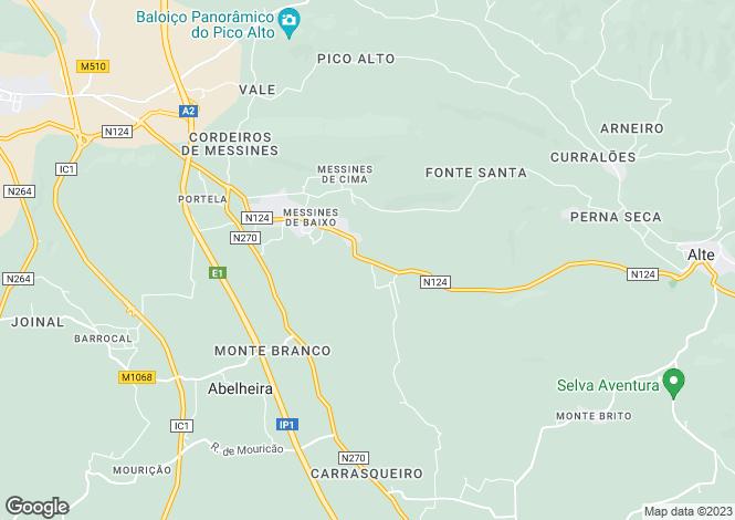 Map for Alte, Loulé, Faro