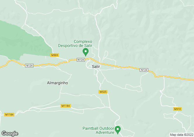 Map for Algarve, Salir