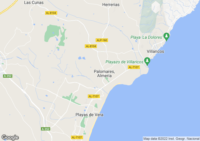 Map for Palomares, Almería, Andalusia