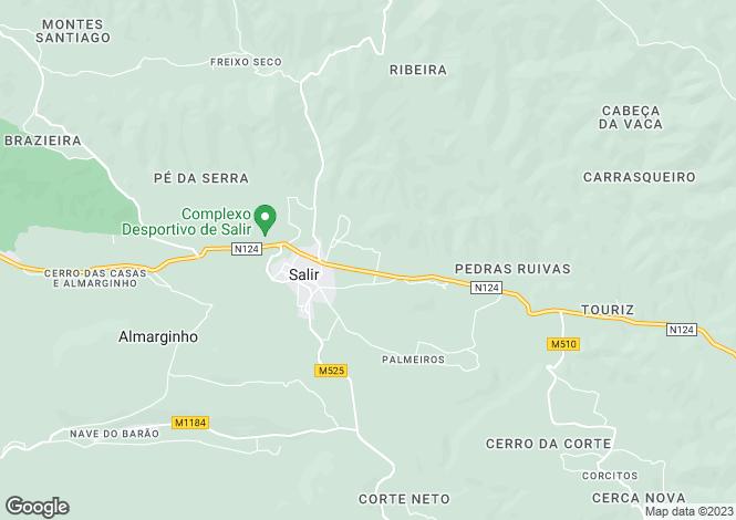 Map for Salir, Algarve