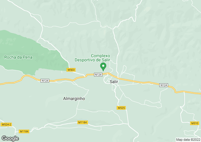 Map for Portugal,Algarve,Salir