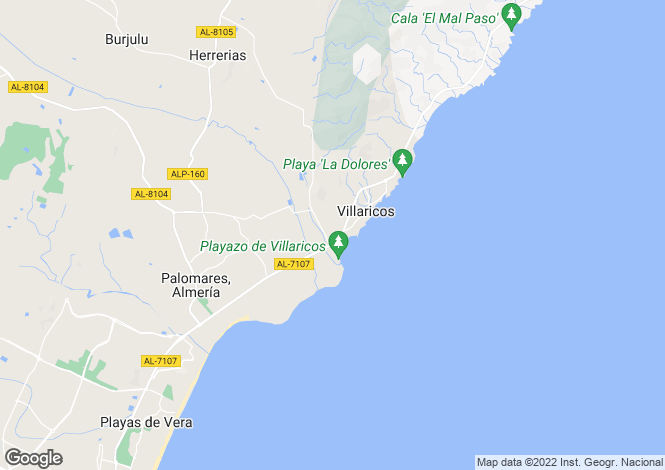 Map for Villaricos, Almería, Andalusia