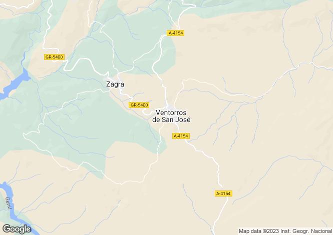 Map for Andalusia, Granada, Loja
