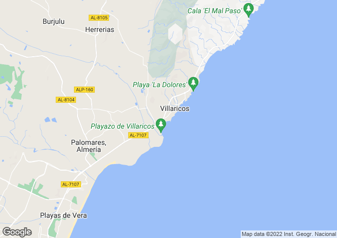 Map for Andalusia, Almería, Villaricos
