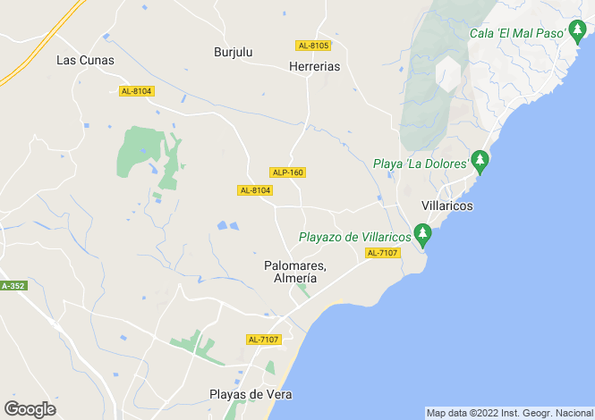 Map for Andalucia, Almería, Palomares