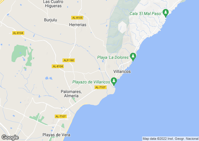 Map for Andalusia, Almería, Palomares