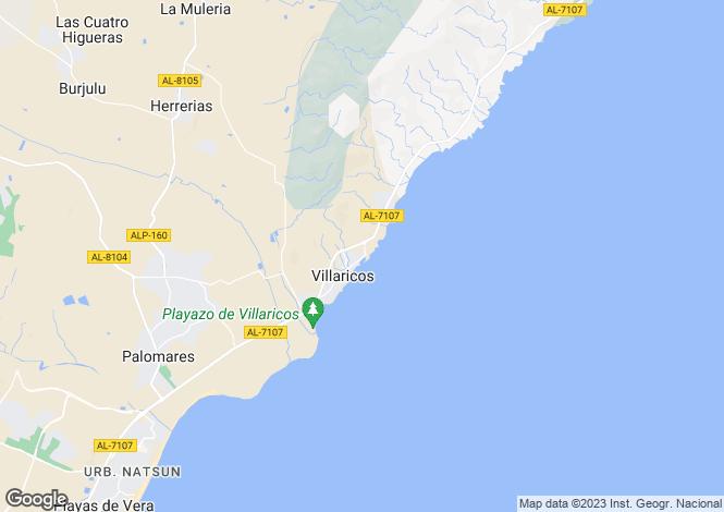 Map for Andalusia, Almería, Villaricos