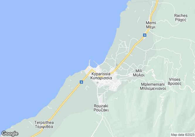Map for Peloponnese, Messinia, Kyparissia