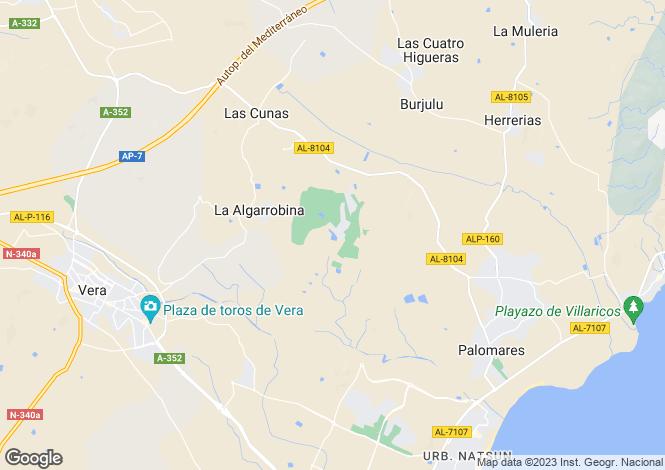 Map for Cuevas Del Almanzora, Almería, Andalusia