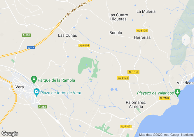 Map for Andalucia, Almería, Las Cunas