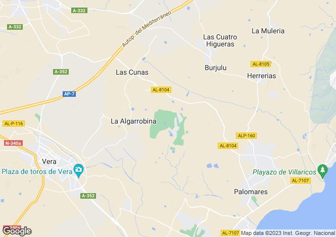 Map for Andalusia, Almería, Cuevas Del Almanzora