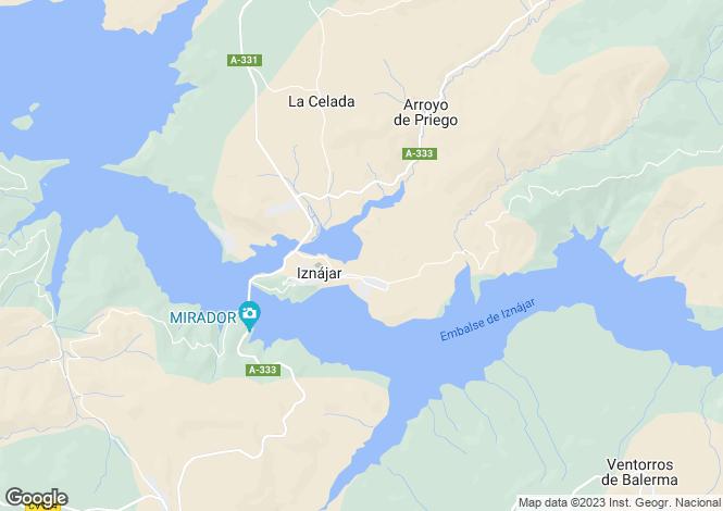 Map for Iznájar, Córdoba, Andalusia