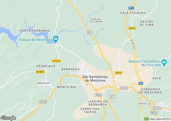 Map for Algarve, São Bartolomeu de Messines