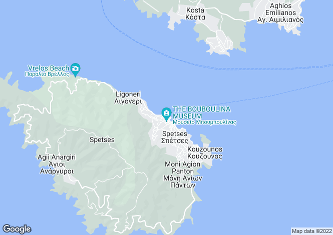 Map for Spestes, Saronic Gulf