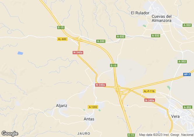 Map for Andalucia, Almería, Antas