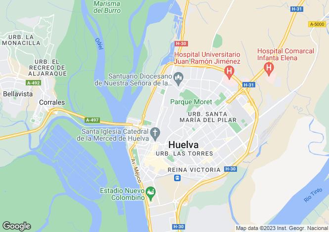 Map for Huelva, Huelva, Spain
