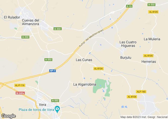Map for Las Cunas, Almería, Andalusia