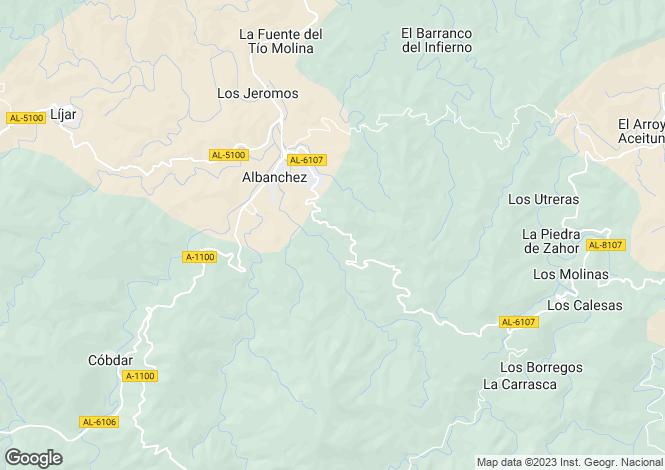 Map for Albánchez, Almería, Andalusia
