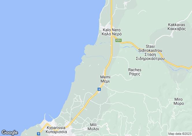 Map for Peloponnese, Messinia, Kalo Nero