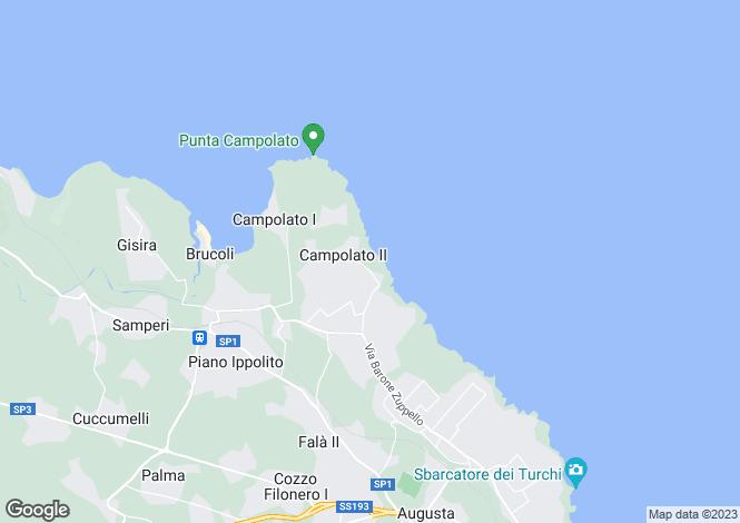 Map for Localita Campolato, Augusta, Siracusa, Sicily