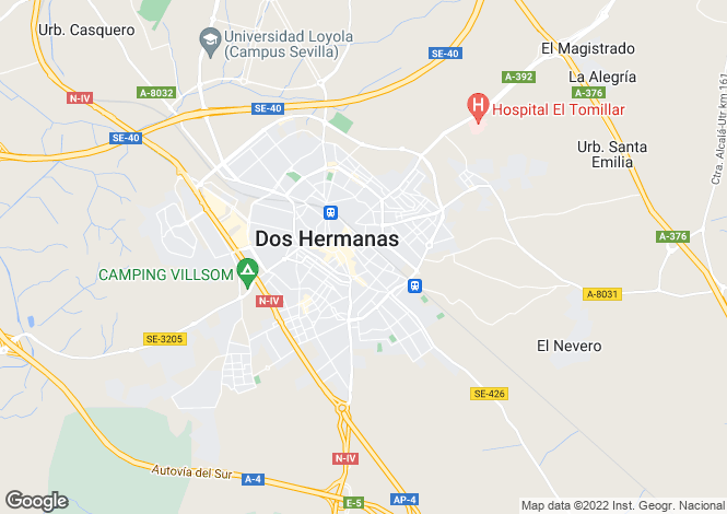 Map for Andalucia, Sevilla, Dos Hermanas