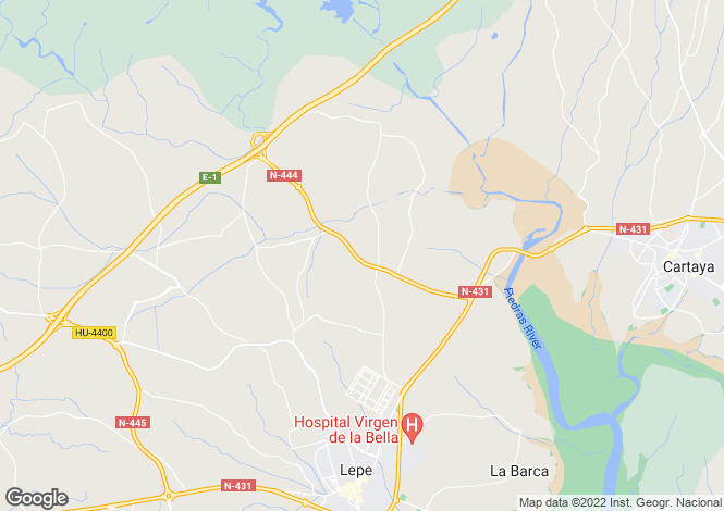 Map for Andalusia, Huelva, Lepe