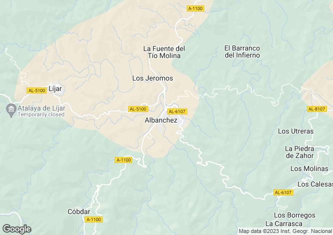 Map for Andalucia, Almería, Albánchez