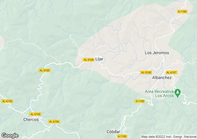 Map for Lijar, Almeria