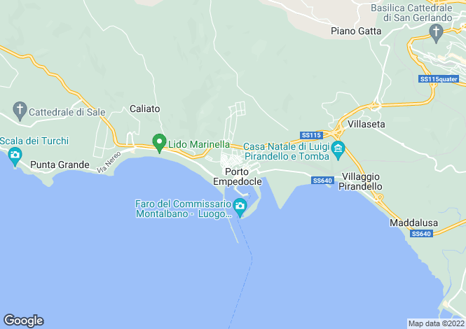 Map for Sicily, Agrigento, Porto Empedocle