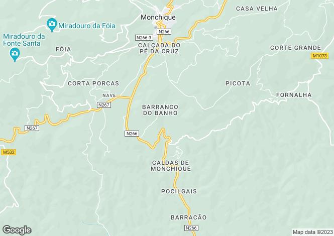 Map for Monchique, Algarve