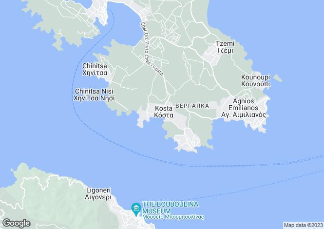 Map for Peloponnese, Argolis, Kosta