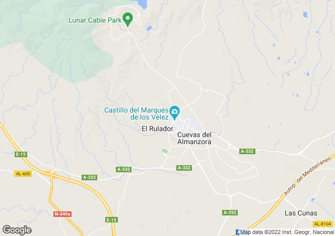 Map for Cuevas Del Almanzora, Almería, Andalusia