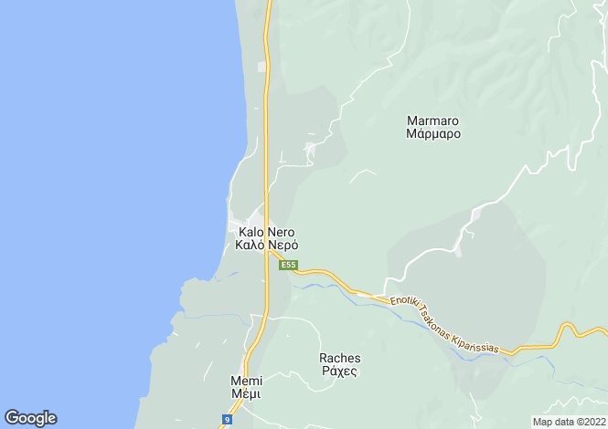 Map for Kalo Nero, Messinia, Peloponnese