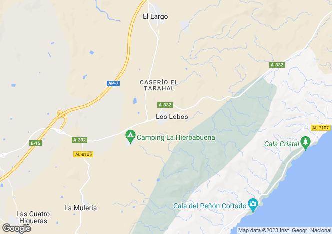 Map for Andalucia, Almería, Los Lobos