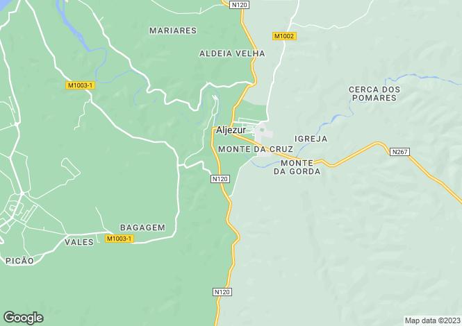 Map for Algarve, Aljezur
