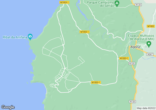 Map for Algarve, Vale da Telha